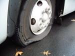 Masse-punkteringer på motorvej