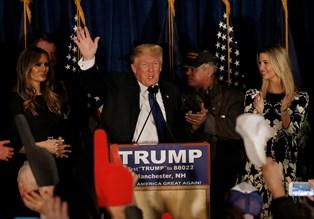 Mangemilliardæren Donald Trump har haft godt tag i vælgerne ved det første primærvalg