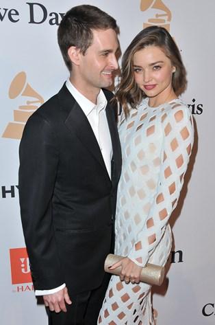 Miranda Kerr har sagt ja til at gifte sig med Snapchat-stifteren Evan Spiegel