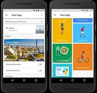 Google Trips har en lang række funktioner, som kan gøre rejsen lettere