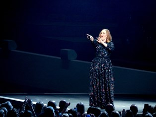 Efter nyheden om Brad Pitt og Angelina Jolies skilsmisse dedikerede Adele sin koncert onsdag aften til dem