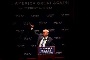 En mand har hakket Donald Trumps navn ud af præsidentkandidatens stjerne på Hollywood Walk of Fame