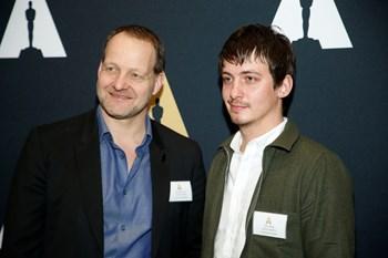 Der var ingen Oscar til Aske Bang (th) og Kim Magnusson. Reuters/Danny Moloshok