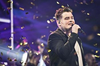 """26-årige Morten Nørgaard blev den tiende vinder af """"X Factor"""". Foto: Ida Guldbæk Arentsen/Scanpix"""