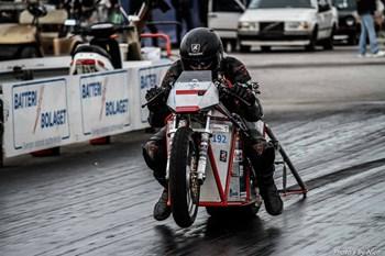 Den elektriske motorcykel Silver Bullitt satte i weekenden ny verdensrekord på distancen 201 meter i tiden 4,82 sekunder. Free/Nico