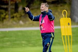 Sveriges landstræner ærgrer sig over aflysningen af Sverige-Danmark. Regningen kan havne hos DBU.