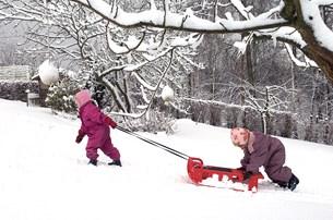 Vinterferie med blæst og sne