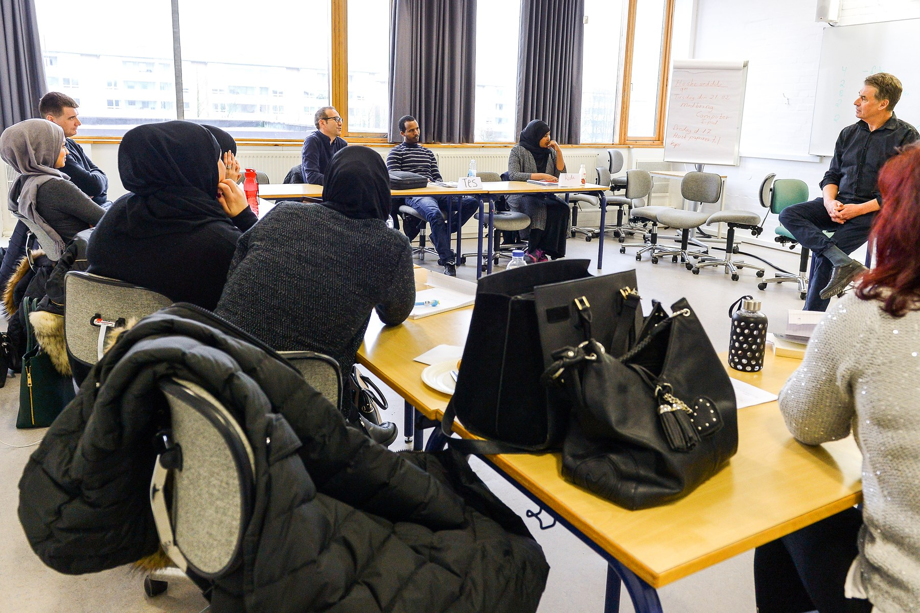 kurser ruster flygtninge