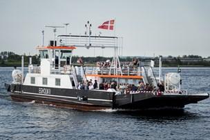 Færgefart over fjorden til landsstævnet