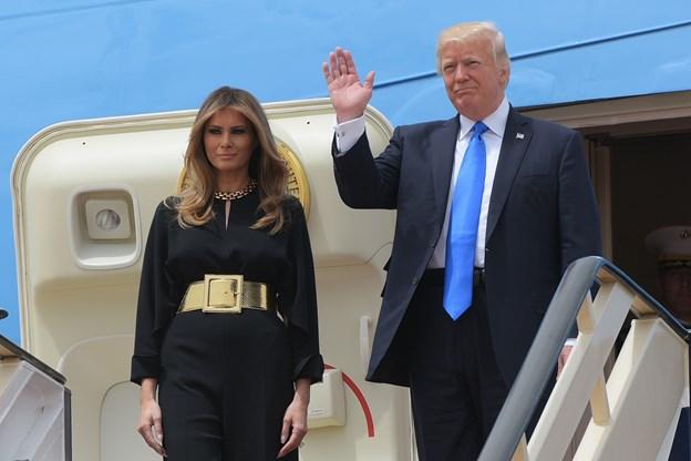 Melania Trump vakte opsigt i Riyadh