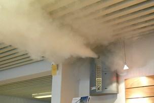 Røg fra røgkanon udløste stor alarm