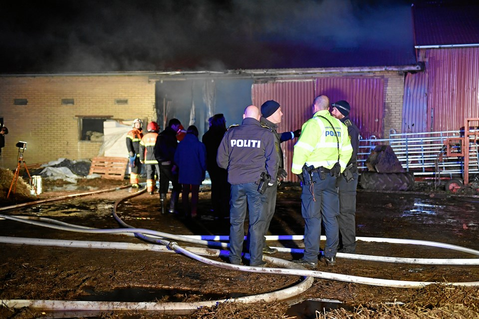 Gårdbrand i Birkelse. Foto: Jan H. Pedersen