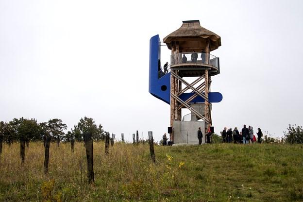 Det er en skulptur, som gerne må bruges. Men det er også et tårn. Foto: Laura Guldhammer
