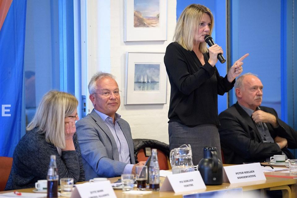 Vi var altså tæt på at gå konkurs for fire år siden, forklarede borgmester Birgit Hansen.  Foto: Peter Broen