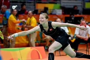 Christinna Pedersen i kvartfinale i mixeddouble