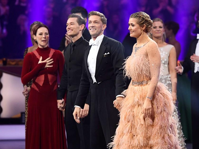 Sofie Lassen-Kahlke og Michael Olesen dansede sig fredag aften til Vild med dans-trofæet.