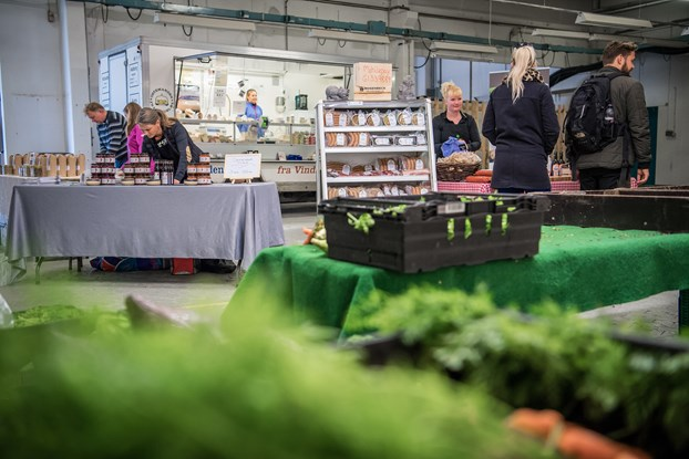 Fødevaremarked blomstrer op igen til foråret