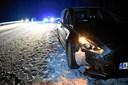 Uheld på motorvej - politiet advarer om glatte veje