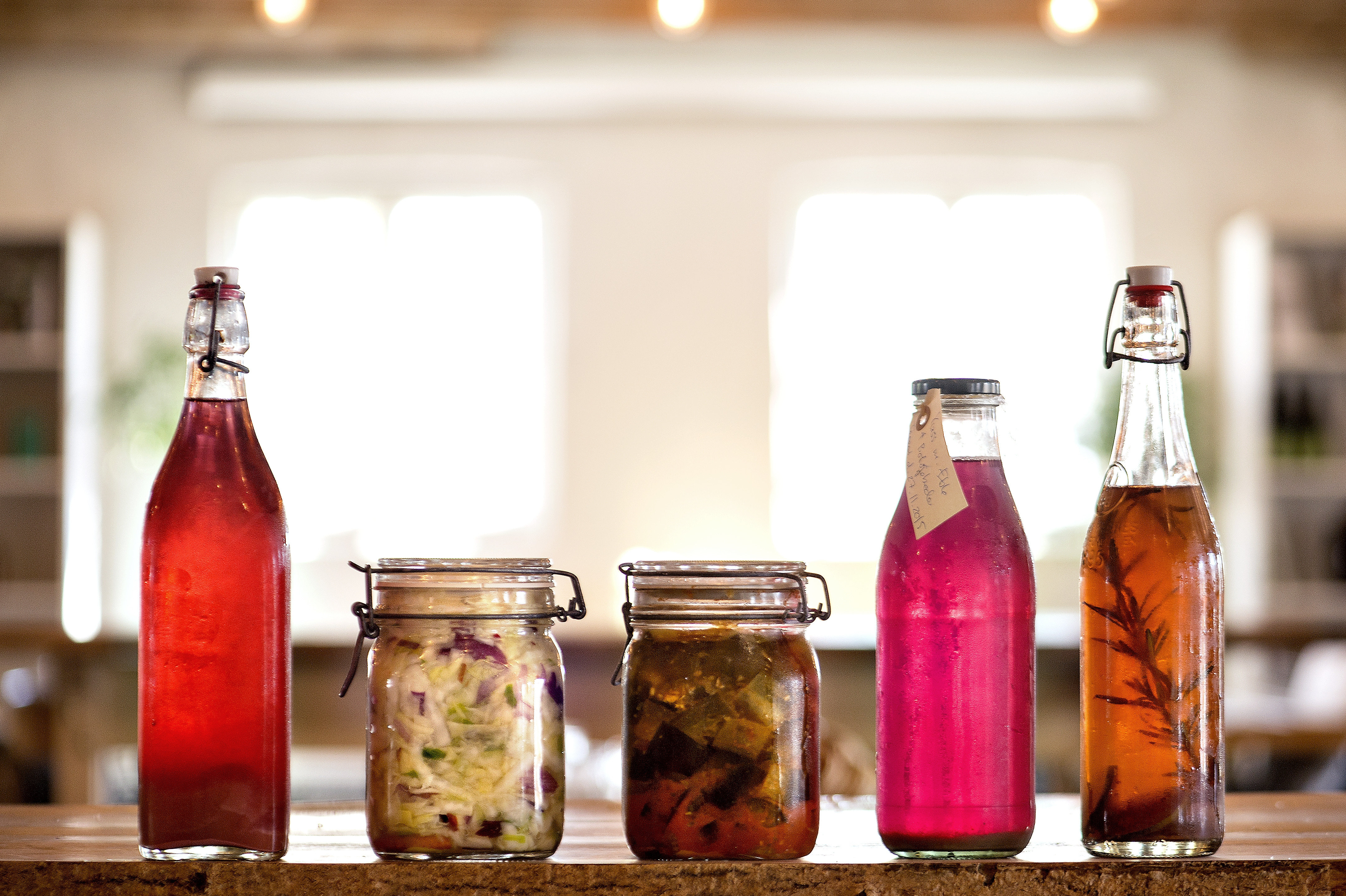 fermentering kraut kimchi og kombucha