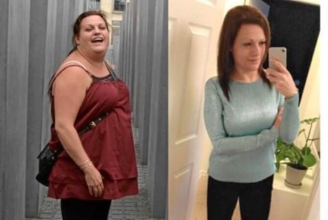 Janni Askov før og efter sit vægttab. Privatfoto