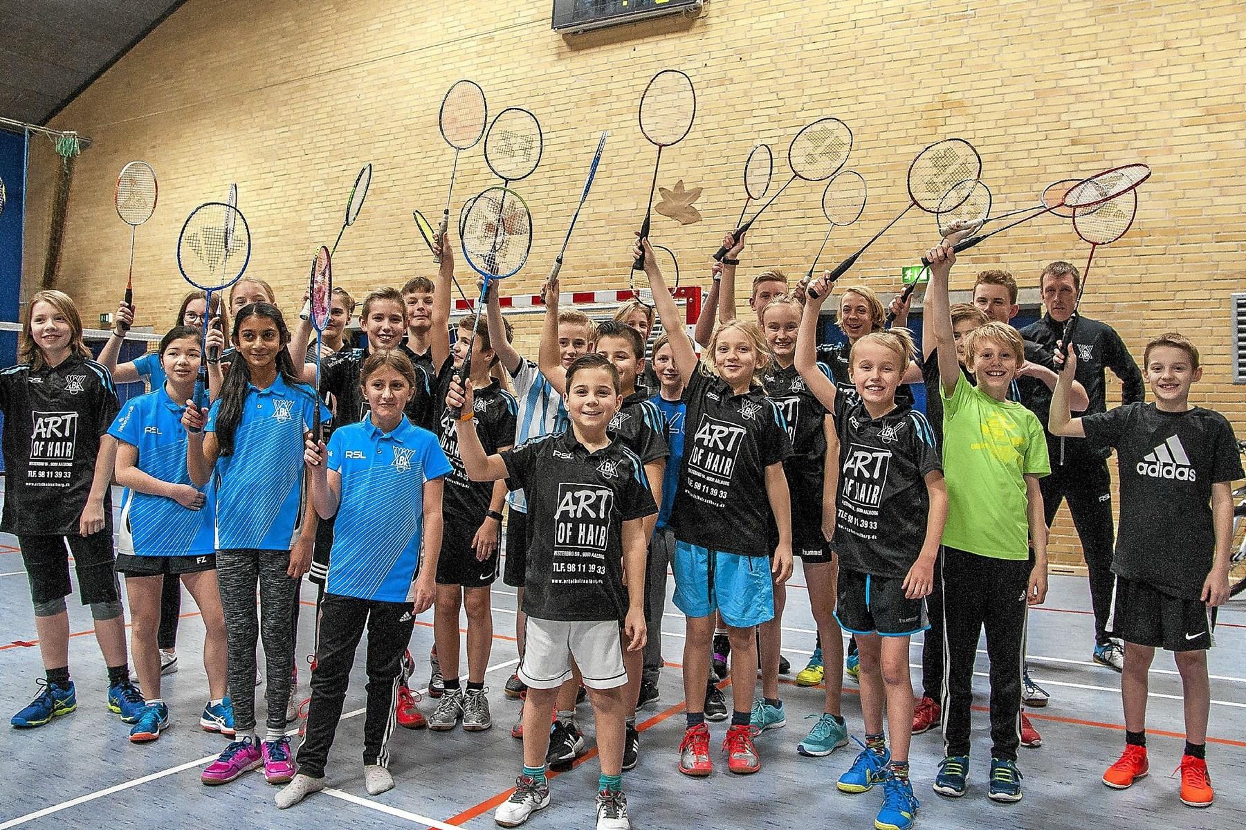 LBK har lige nu 87 unge badmintonspillere. Foto: Lasse Sand