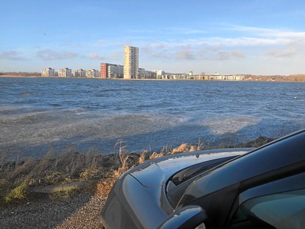 Skudehavnen byder på en fantastisk udsigt over Nørresundby.