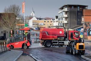 Mere ny asfalt på Østerbakken