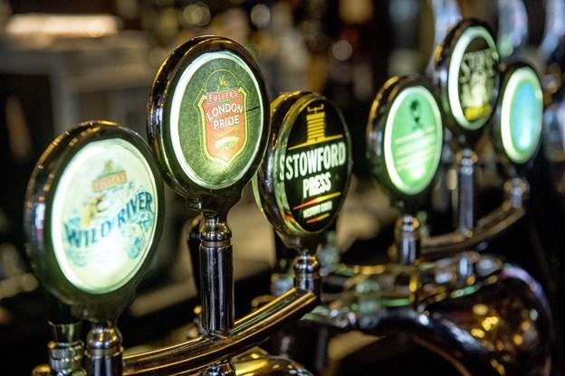 London Pub gør meget ud af det brede øl-udvalg.