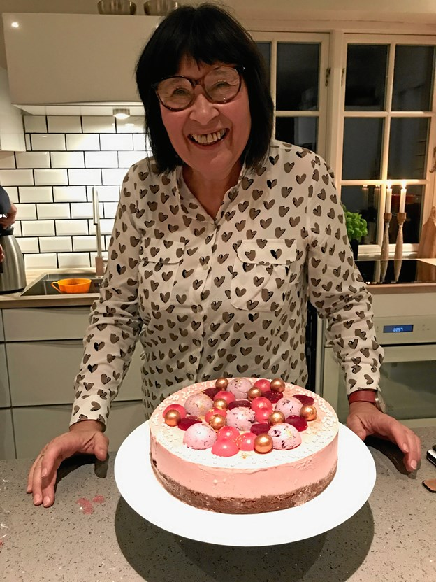 Bage-Rosa har kreeret en speciel kage til messen. Privatfoto