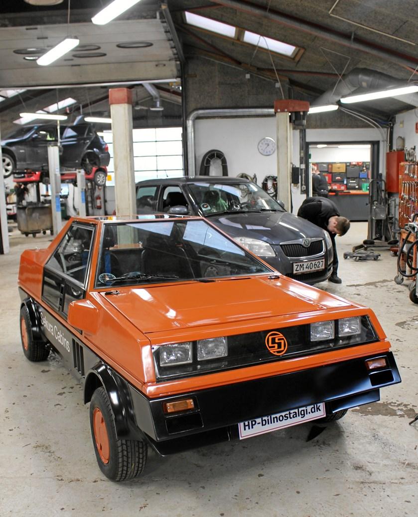 Sekura Mini er færdigrestaureret og kan ses på den store vintage bilmesse i Fredericia