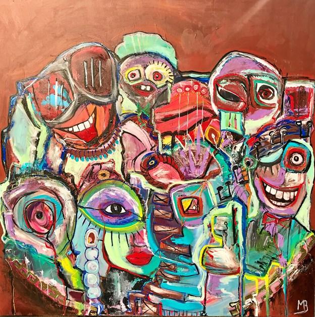 Bundesen har over de seneste par år udviklet en stil, der blandt andet er inspireret af de abstrakte cobrakunstnere.Foto: Galleri Puls Art