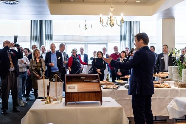 Borgmester Thomas Kastrup-Larsen holdt tale og roste Rotary-klubben for dens arbejde.