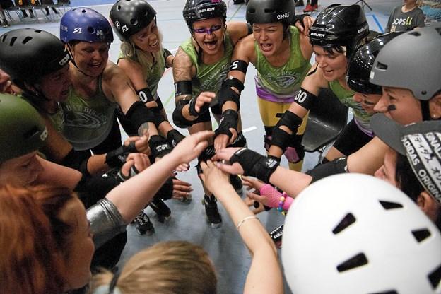 Kvinderne fra Aalborg Roller Derby skal møde fire europæiske klubber i weekenden. Arkivfoto: Lasse Sand