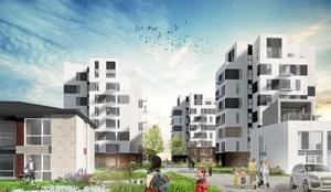 Seks boligtårne skyder op i Aalborg Ø