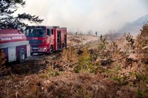 25 hektar hede brændt på skydeterræn