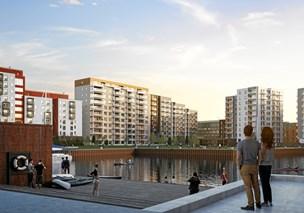 Ny bydel ved havn tager form