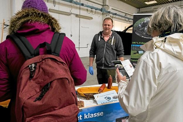 Slagteren var også på plads. Foto: Lasse Sand