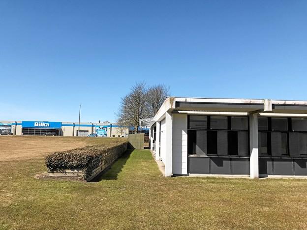 Privatskolen får en central beliggenhed og bliver i øvrigt genbo til Bilka og Aalborg Storcenter. Foto: Torben O. Andersen