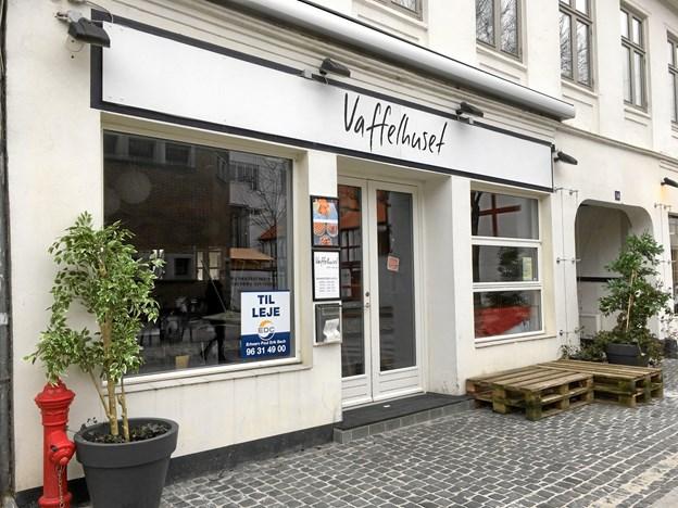 Vaffelhuset i Nørregade er til leje. Privatfoto