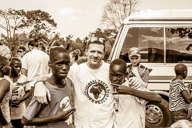 Claus Hassing har været i Uganda flere gange i forbindelse med projektet. Privatfoto