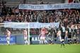 Protester fra fans, da AaB slog Horsens