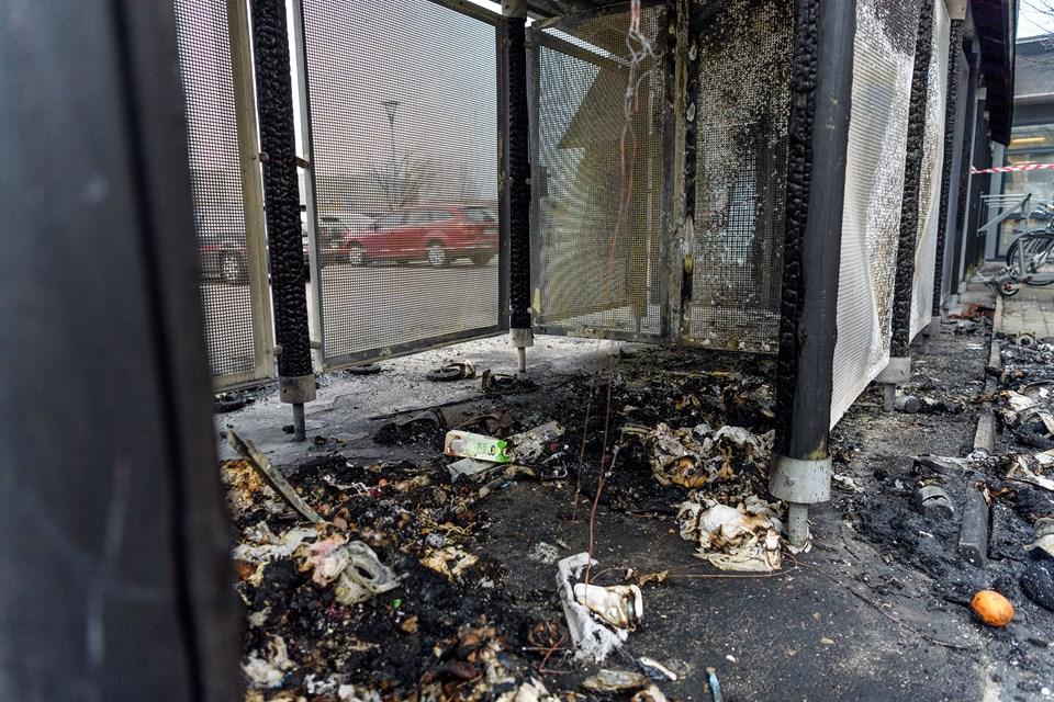 En række affaldscontainere i Aalborg blev ramt af brand i weekenden. Foto: Nicholas Cho Meier