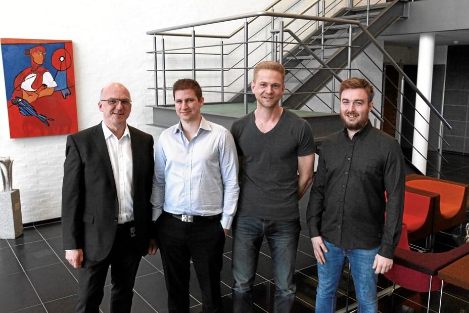 Tre unge godt i gang med ny virksomhed