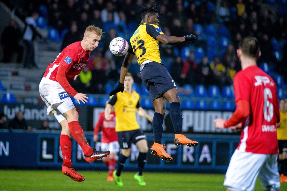 Hobro sikrede sig overlevelse i Superligaen med en 1-0 sejr over Silkeborg. Foto: Bo Lehm