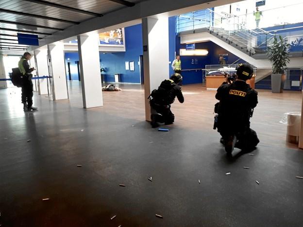 """Politiøvelse: Her jagtede de """"terrorister"""""""
