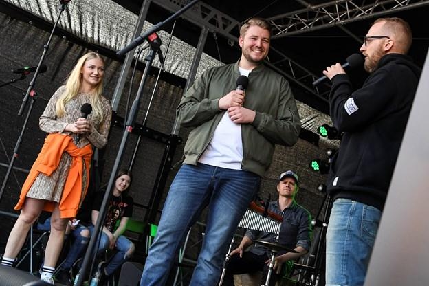 Rasmus var første mand på scenen