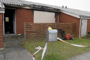 73-årig indebrændt i rækkehus