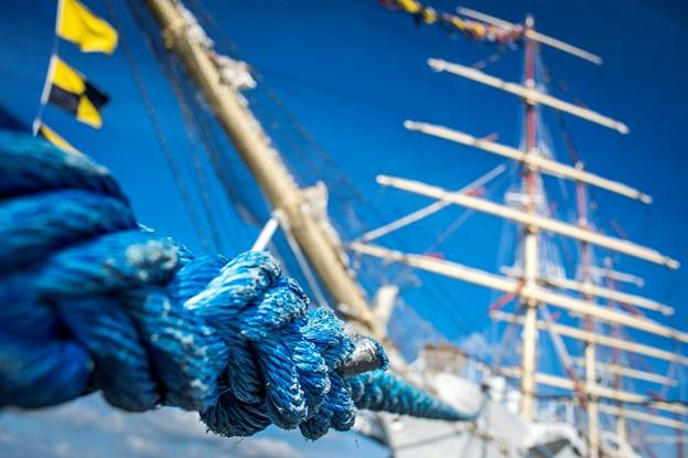 Det er første gang, at Aalborg lægger havn til træskibsstævnet. Arkivfoto: Martin Damgård