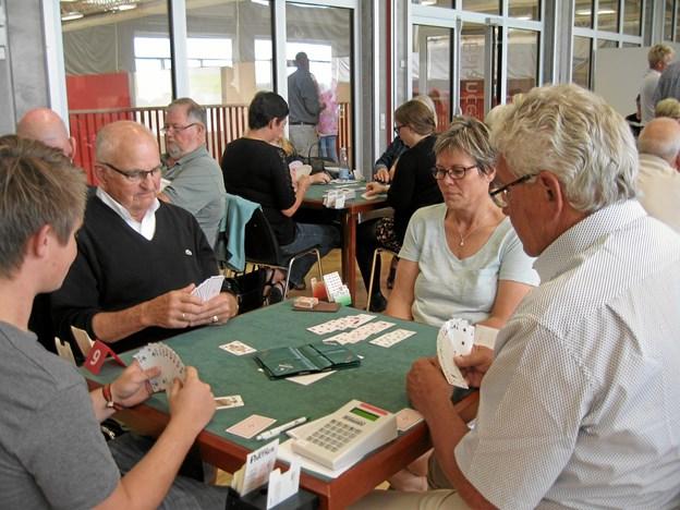 Preben Kristensen og Leif Christensen fra BK 1973 spiller her til DM for begyndere i 2016 i Svendborg mod de senere vindere. Privatfoto