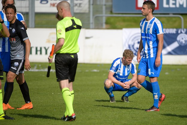 Vendsyssel FF sparkede sig lørdag tilbage i oprykningsduellen, da de snuppede tre point med sejr på 3-1 mod Thisted FC. Foto: Bo Lehm